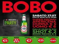 Sabato 27 BECK'S Party - BOBO CHECK POINT