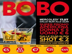 17/7 APERICENA DONNA €5 - UOMO €6 - BOBO CHECK POINT